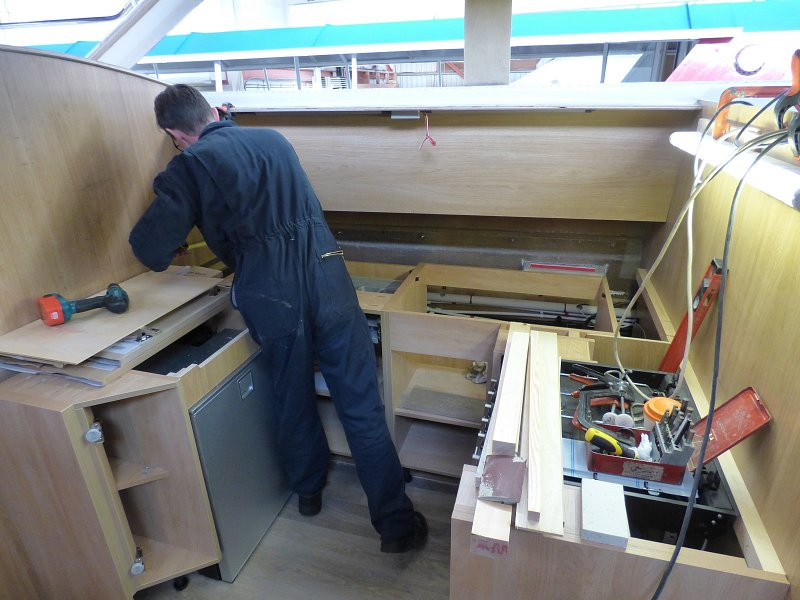 galley being fitted on fair entrepreneur