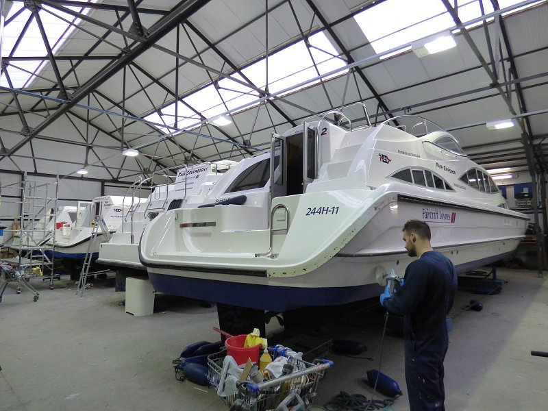 norfolk broads direct cruiser being serviced