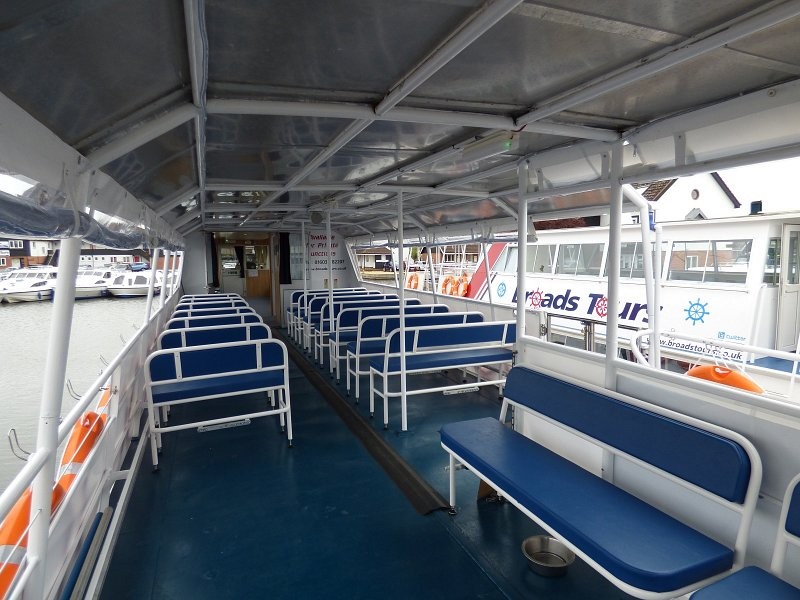 queen of the broads passenger trip boat internal shot of seating