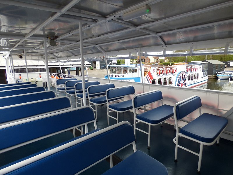 queen of the broads internal shot of seating