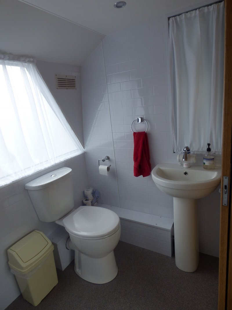 after shot of toilet when work complete