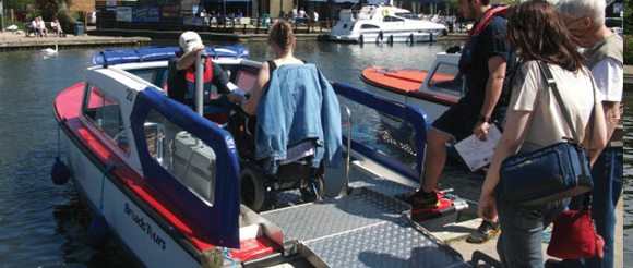 wheelchair day boat