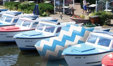 gift wrapped day boat hire