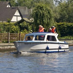 dayboat on the broads