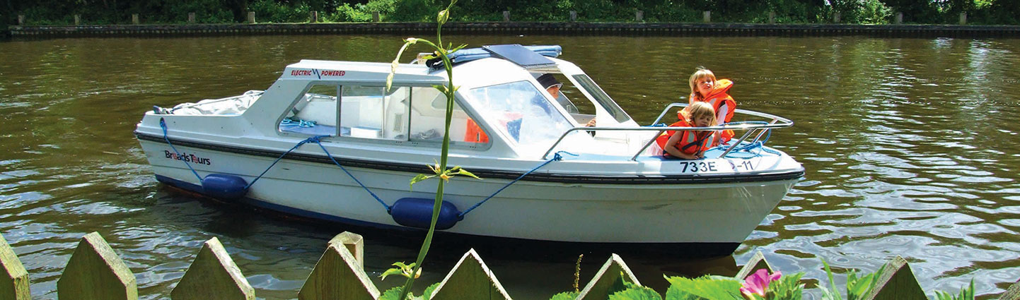 Large Electric Day Boat Hire