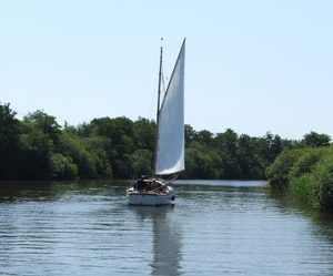 sail boat on the broads