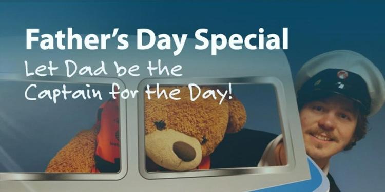 Its Father's Day, Let Dad be Captain for the Day!