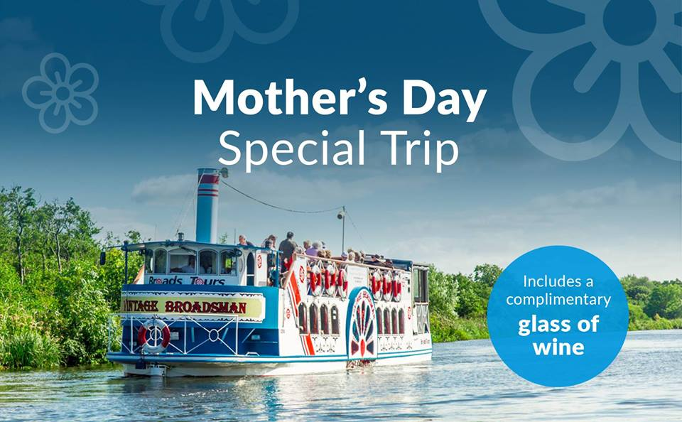 Mother's Day boat hire on the Norfolk Broads